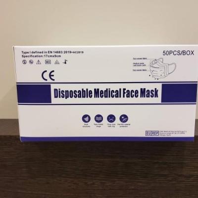 Chirurgische mondmaskers doos 50 stuks